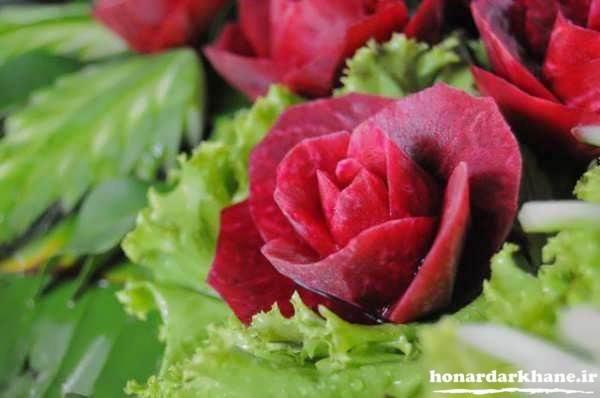 تزیینات لبو به شکل گل