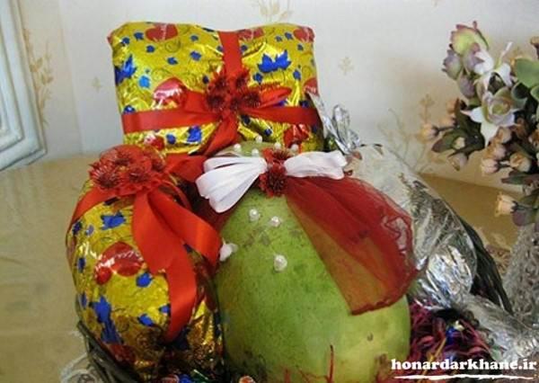 تزیین هدایا برای شب یلدا