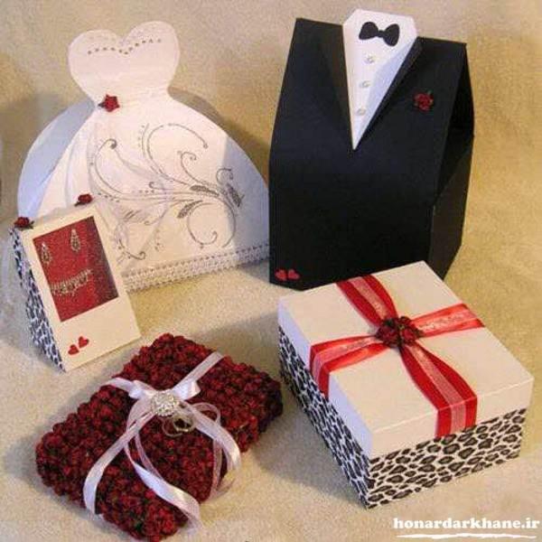 تزیین جعبه هدایای عروس