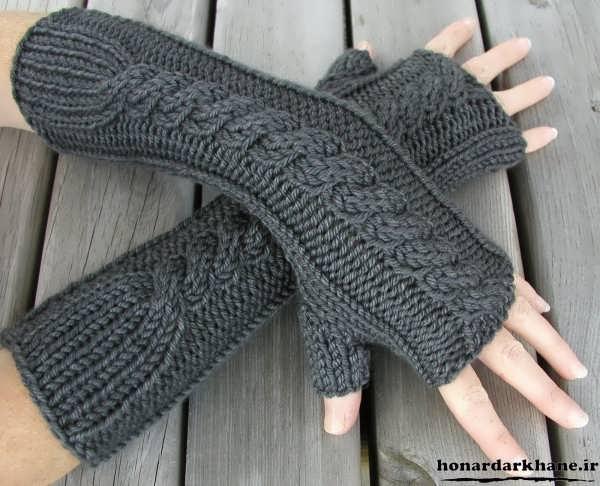 مدل دستکش بافتنی جدید