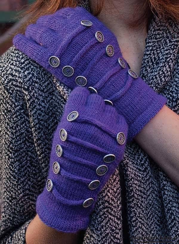 مدل دستکش بافتنی دخترانه جدید و زیبا