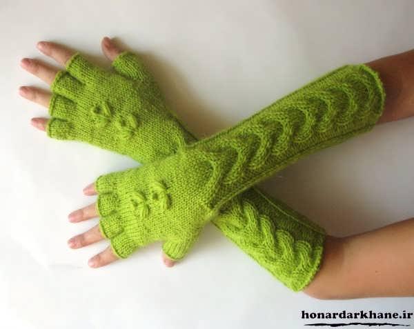 مدل دستکش بافتنی زیبا
