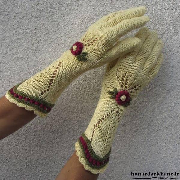 دستکش بافتنی جدید و زیبا