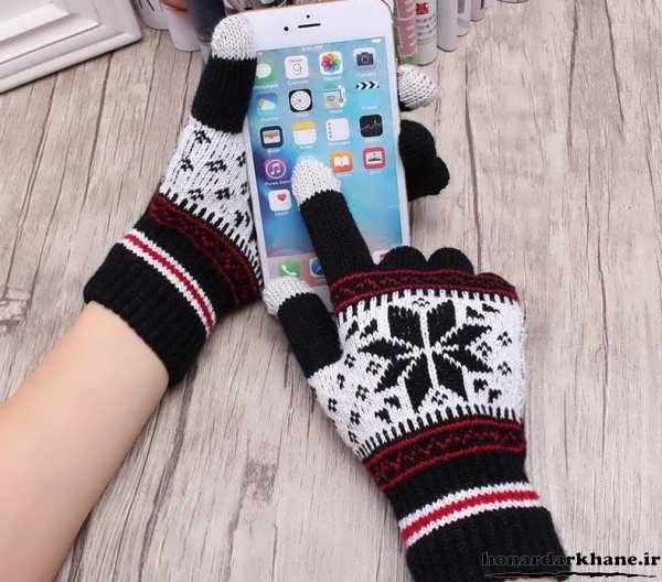 دستکش های بافتنی پسرانه