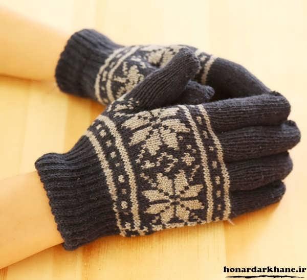دستکش های بافتنی جدید و زیبا