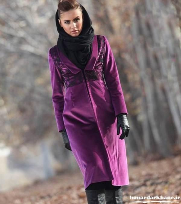مدل مانتو مخمل زمستانی