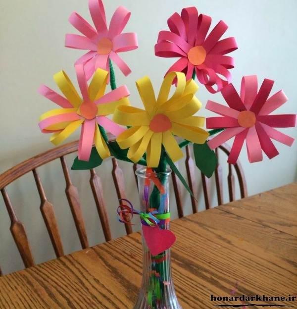 ساخت کاردستی گل