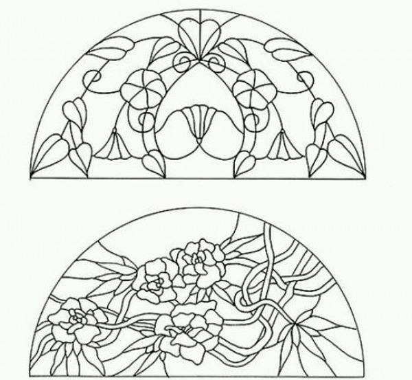 طرح خام ویترای روی شیشه