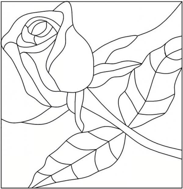 طرح گل برای نقاشی روی شیشه