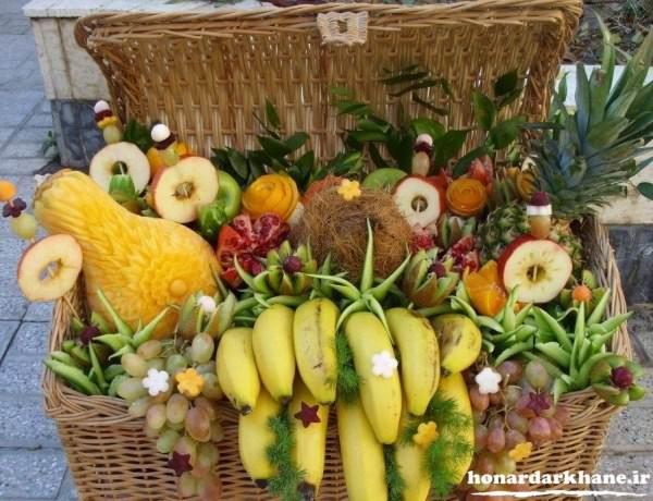 تزیین سبد میوه شب چله عروس
