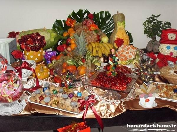تزیین هدایا شب چله برای عروس