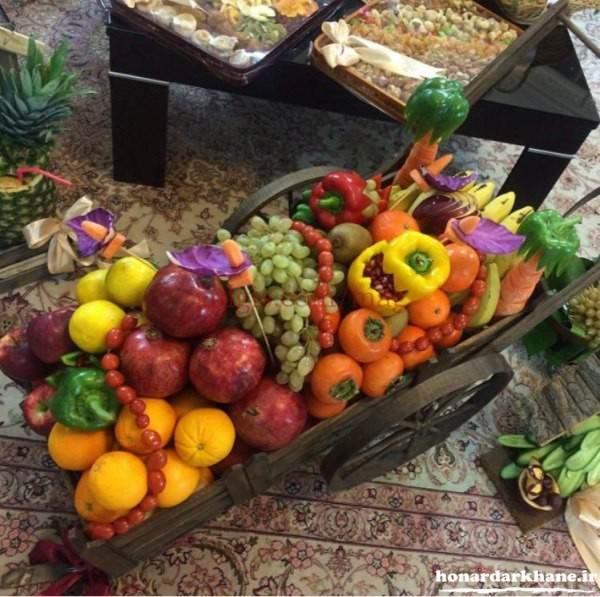 تزیین میوه برای شب یلدا عروس
