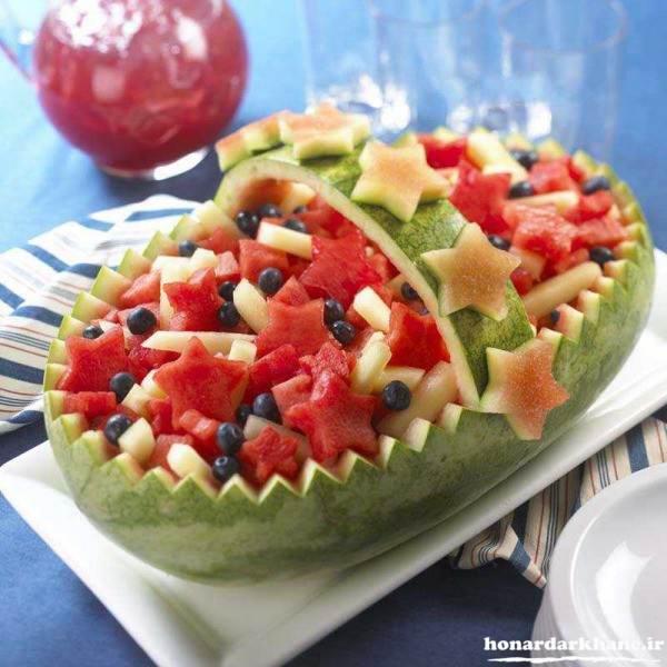 میوه آرایی با هندوانه
