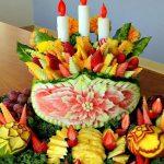تزیین میوه شب یلدا عروس