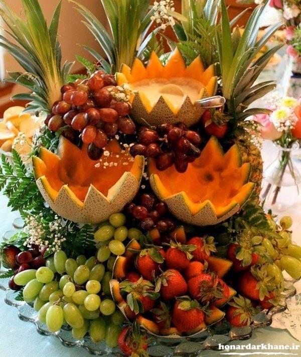 تزیین میوه شب چله