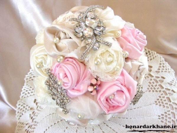 دسته گل عروس پارچه ای