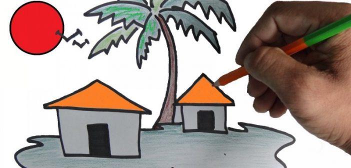 آموزش نقاشی کودکان با اشکال هندسی و طرح های ساده