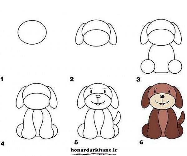 آموزش کشیدن نقاشی سگ