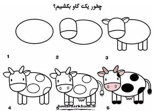 نقاشی گاو برای کودکانه
