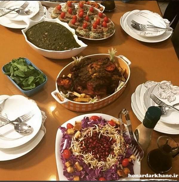 تزیین میز غذا