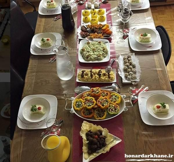 تزیین جدید میز غذا