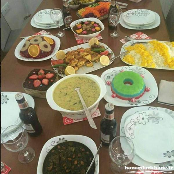 تزیین میز غذا نوعروس