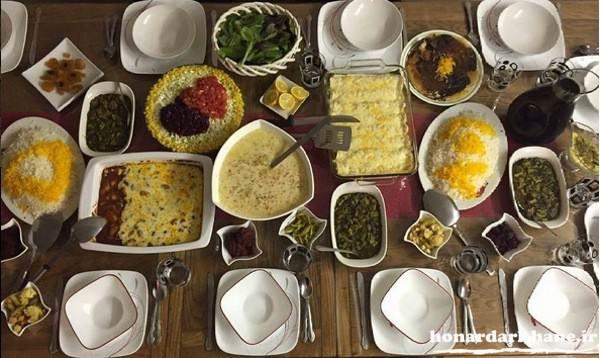تزیینات میز غذای ایرانی