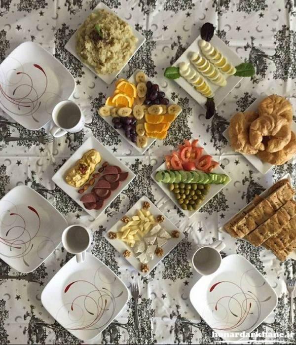 چیدمان میز غذا با ایده های جدید
