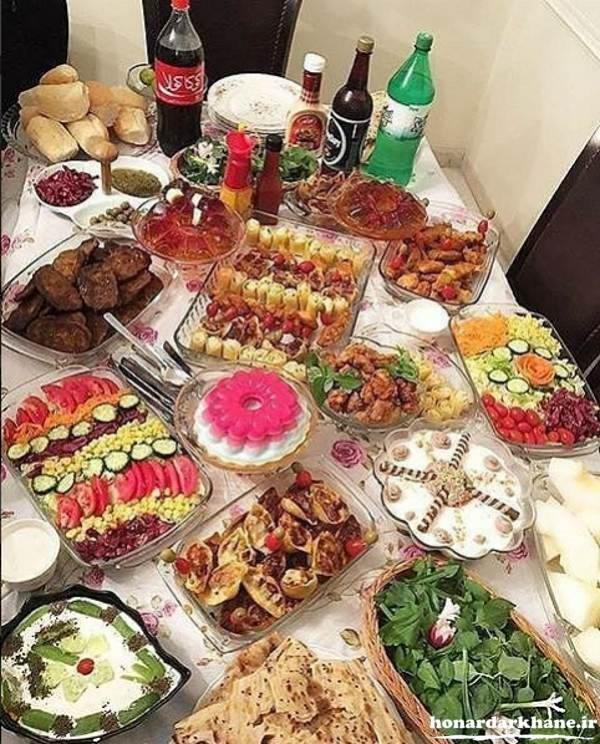 تزیین میز شام مجلسی