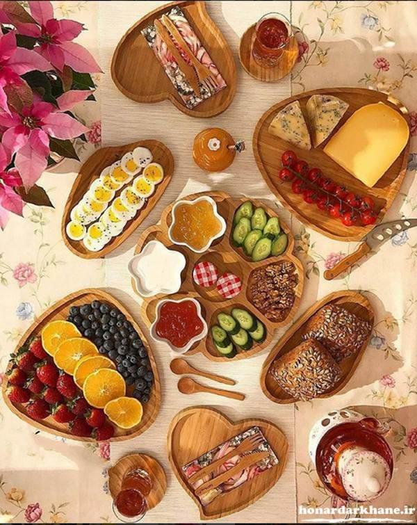 تزیین صبحانه شیک و زیبا