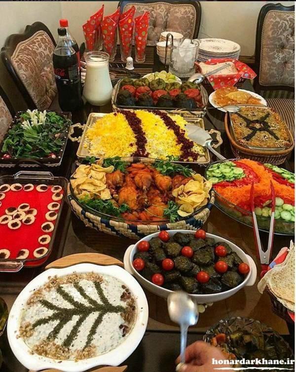 چیدمان میز غذا خوری