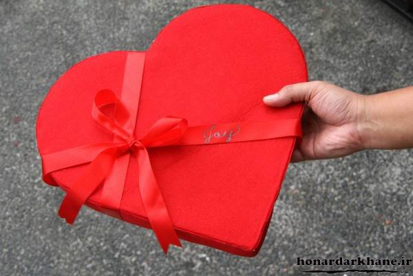 جعبه کادو قلبی ولنتاین