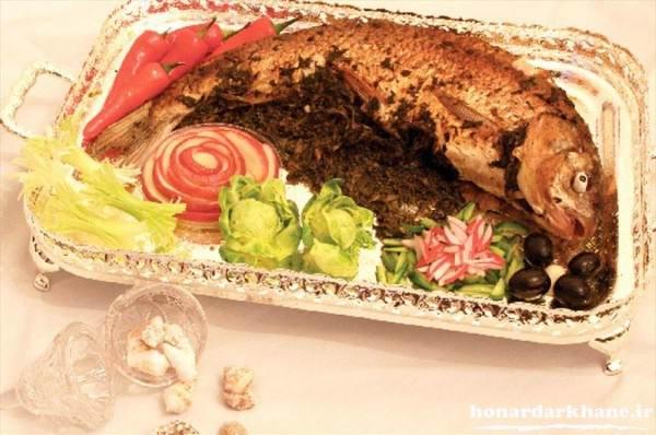 تزیین انواع ماهی برای مهمانی