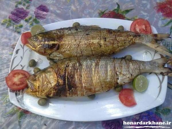 تزیین انواع ماهی سوخاری