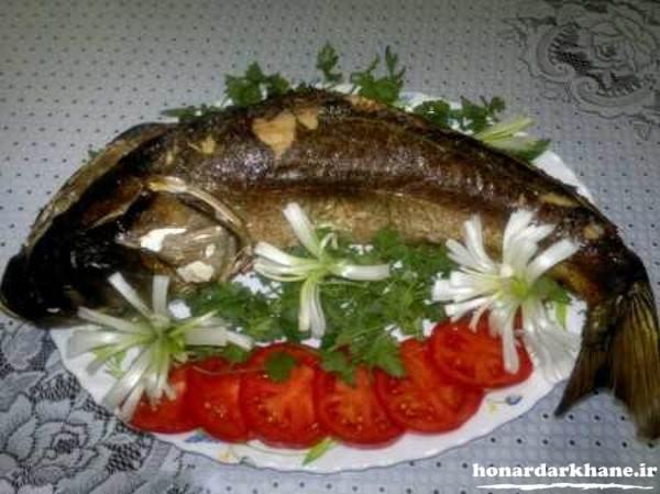 تزیین ساده ماهی برای مهمانی