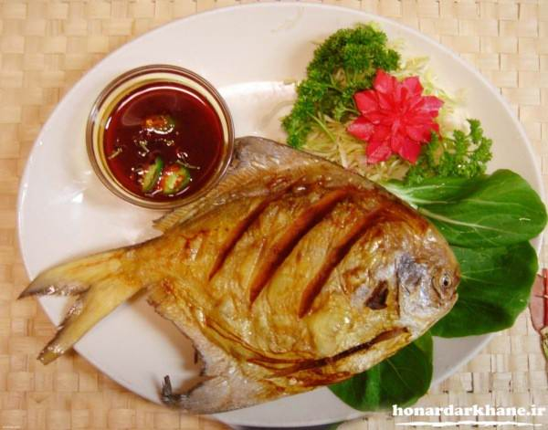 تزیین زیبای ماهی