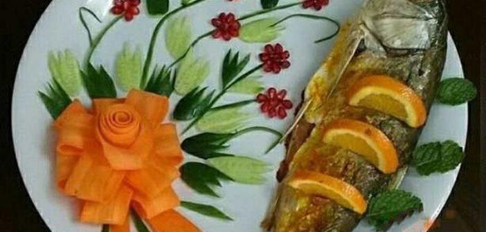 تزیین ماهی شکم پر و ماهی سرخ شده با ایده های جدید و زیبا