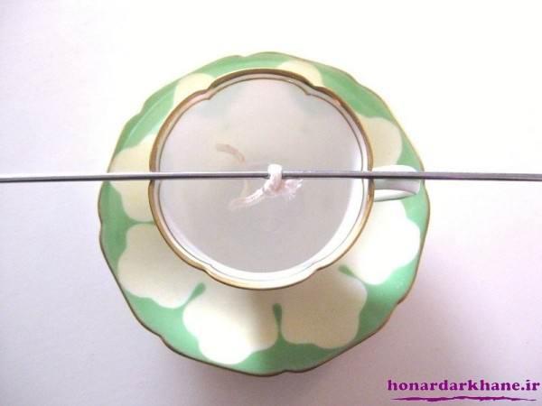 تزیین شمع در فنجان و ظرف