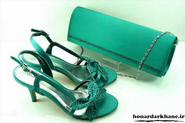 ست کیف و کفش سبز