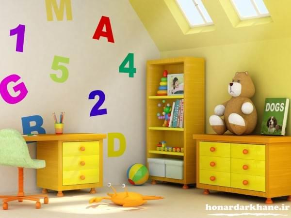 تزیین جدید و زیبای اتاق کودک