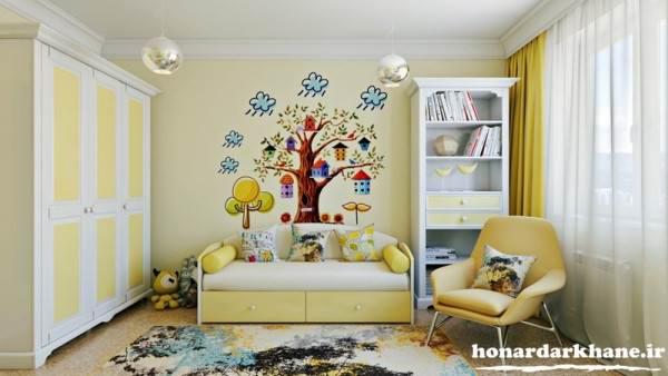 تزیین اتاق خواب کودک با وسایل ساده