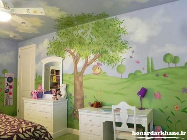 تزیین دیوار اتاق کودک