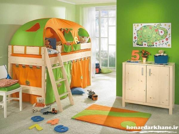 تزیین زیبای وسایل اتاق کودک