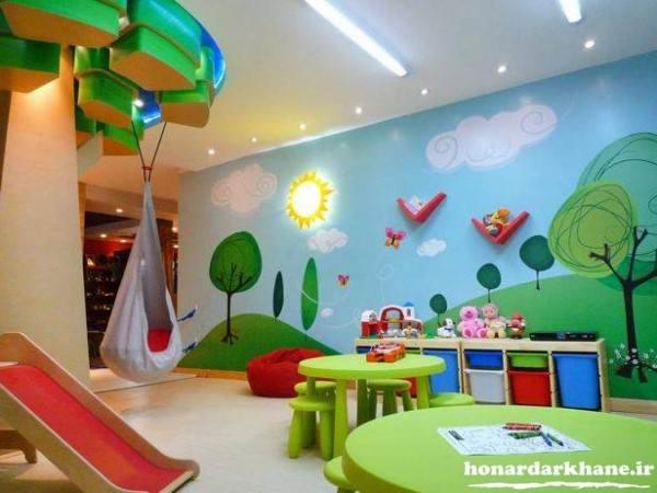 نقاشی روی دیوار های اتاق کودک