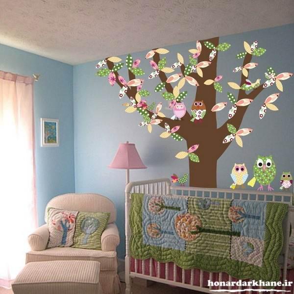 تزیین دیوارهای اتاق کودکان