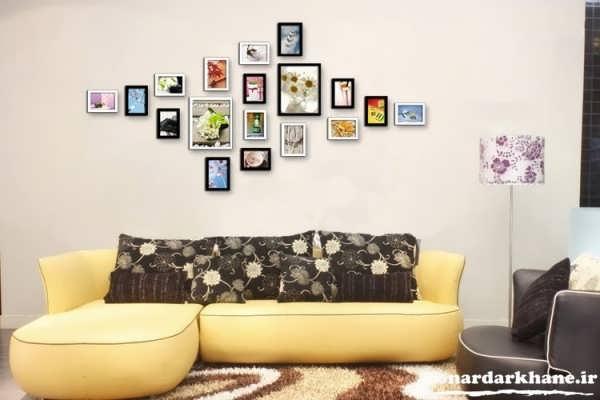 تزیین دیوار با تابلوهای زیبا