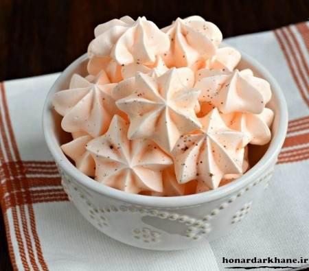 طرز تهیه شیرینی پفکی با سفیده تخم مرغ