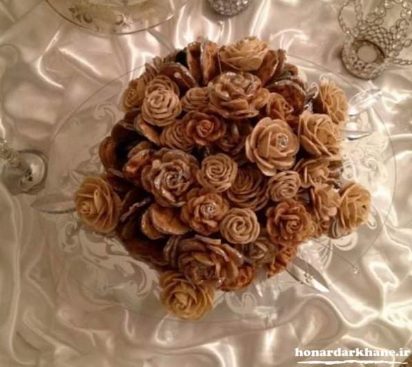 تزیین زیبای نان سنگک به شکل گل