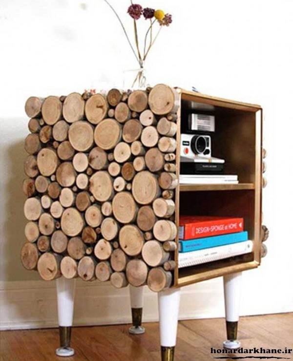 ساخت قفسه کتاب با چوب