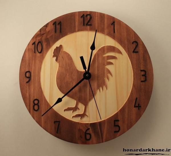 ساعت چوبی بسیار زیبا